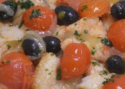 Filetto di Baccalà alla Pizzaiola