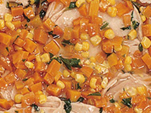 Tacchino mais e carote