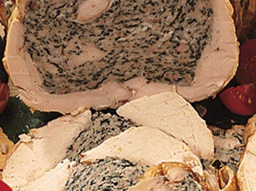Pollo ripieno agli spinaci